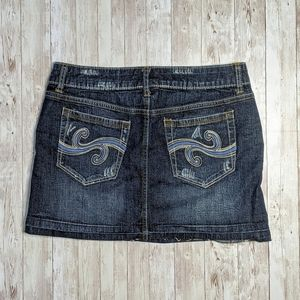 Candie's Size 3 Distressed Released Hem Jean Skirt